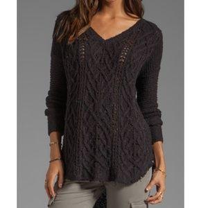 Free People Cross My Heart Open Knit Sweater